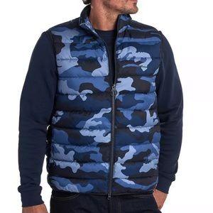 NWT Men's Barbour Blue Camo Vest